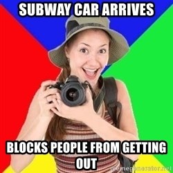 typical_tourist - subway car arrives blocks people from getting out