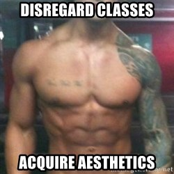 Zyzz - Disregard classes Acquire aesthetics