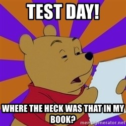 Skeptical Pooh - Test Day! where the heck was that in my book?