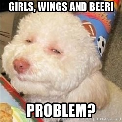 Troll dog - girls, wings and beer! problem?
