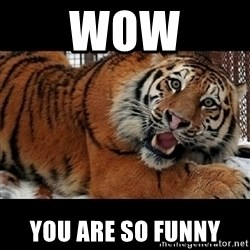 Sarcasm Tiger - Wow you are so funny