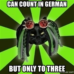 Pompous Cyber Cat - can count in German but only to three