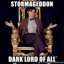 Hipster Doctor Who - STORMAGEDDON DARK LORD OF ALL
