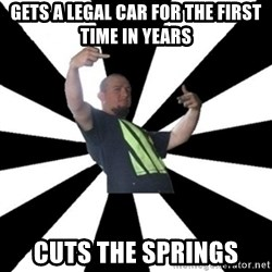 New Zealand's Boss - gets a legal car for the first time in years cuts the springs