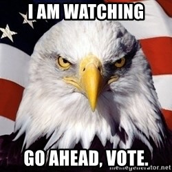 American Pride Eagle - i am watching Go ahead, vote.