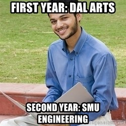 Indian Student - First Year: dal arts Second year: smu engineering