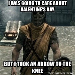 skyrim whiterun guard - I was going to care about valentine's day but i took an arrow to the knee