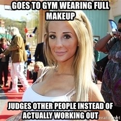 typical moscow girl2 - Goes to gym wearing full makeup judges other people instead of actually working out