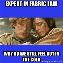 Lord of the Rings - expert in fabric law why do we still feel out in the cold