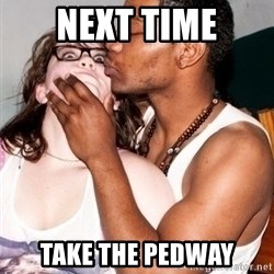 Scared White Girl - Next time take the pedway