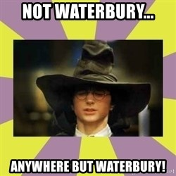 Harry Potter Sorting Hat - Not waterbury... Anywhere but waterbury!
