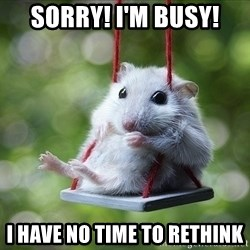 Sorry I'm not Sorry - Sorry! I'm busy! i have no time to rethink