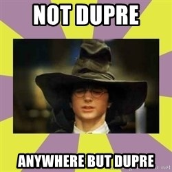 Harry Potter Sorting Hat - not dupre  anywhere but dupre
