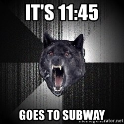 Insanity Wolf - it's 11:45 goes to subway