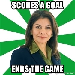 Laura Chinchilla  - scores a goal ends the game