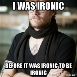 hipster Barista - i was ironic before it was ironic to be ironic