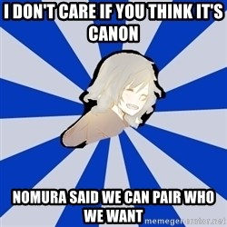 Kingdom Hearts Fangirl - i don't care if you think it's canon nomura said we can pair who we want