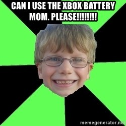 Funny Stupid - Can i use the xbox battery mom. Please!!!!!!!!