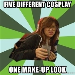 Joyce the Divine - five different cosplay one make-up look
