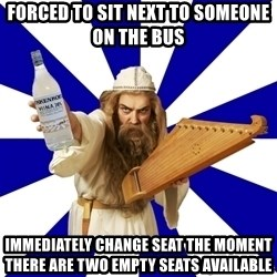 FinnishProblems - forced to sit next to someone on the bus immEdiately change seat the moment there are two empty seats available