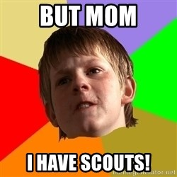 Angry School Boy - but mom i have scouts!