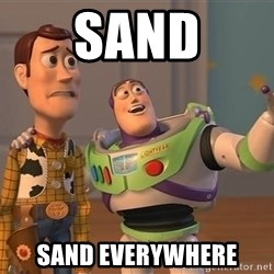 ORIGINAL TOY STORY - sand sand everywhere