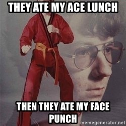 PTSD Karate Kyle - They ate my ace lunch then they ate my face punch