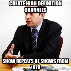 Crappy Australian TV Programmer - Create high definition channles Show repeats of shows from 1970