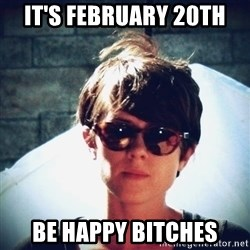 Sara Quin is not amused - it's february 20th be happy bitches