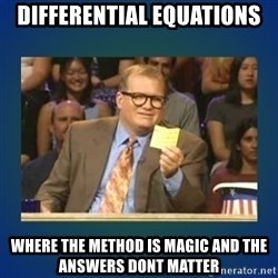 drew carey - Differential Equations Where the method is magic and the answers dont matter