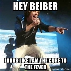 Heartless Harry - Hey Beiber  looks like I am the cure to the fever