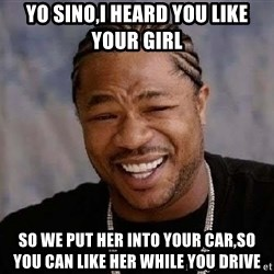Yo Dawg - yo sino,i heard you like your girl so we put her into your car,so you can like her while you drive