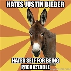 West Burro - hates justin bieber hates self for being predictable
