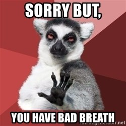 Chill Out Lemur - Sorry but, you have bad breath