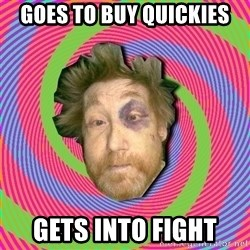 Russian Boozer - goes to buy quickies gets into fight
