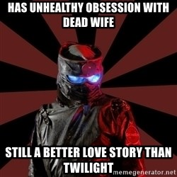 Seemingly Sinister Repo Man - has unhealthy obsession with dead wife still a better love story than twilight