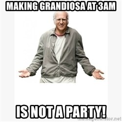 Larry David - making grandiosa at 3am is not a party!