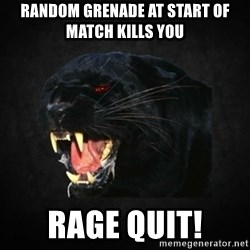 Roleplay Panther - Random grenade at start of match kills you rage quit!