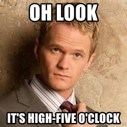 BARNEYxSTINSON - Oh look It's High-Five O'clock