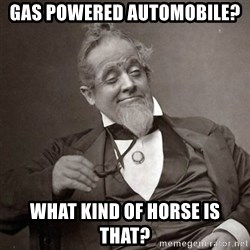 1889 [10] guy - Gas powered automobile? what kind of horse is that?