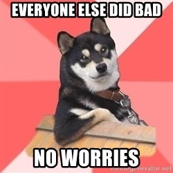 Cool Dog - everyone else did bad no worries