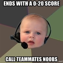 FPS N00b - Ends with a 0-20 score call teammates noobs