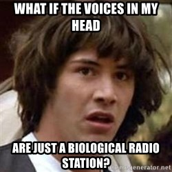 Conspiracy Keanu - what if the voices in my head are just a biological radio station?