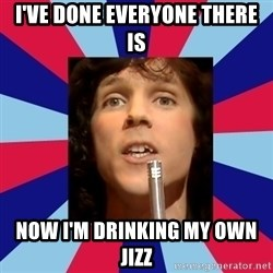 russell mael - I've done everyone there is now I'm drinking my own jizz