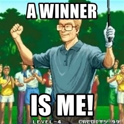Happy Golfer - A winner is me!
