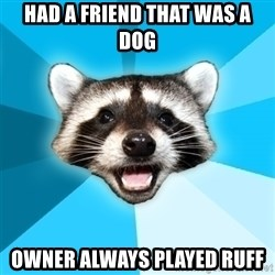 Lame Pun Coon - had a friend that was a dog owner always played ruff