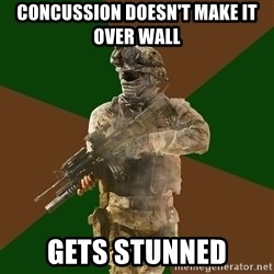 Call Of Duty Addict - CONCUSSION DOESN'T MAKE IT OVER WALL GETS STUNNED
