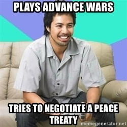 Nice Gamer Gary - plays advance wars tries to negotiate a peace treaty