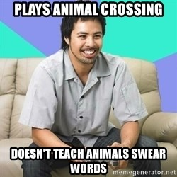 Nice Gamer Gary - plays animal crossing DOESN'T TEACH ANIMALS swear words