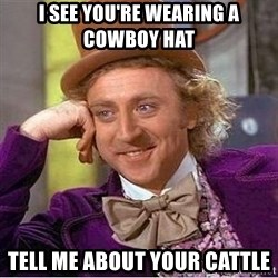 Willy Wonka - I SEE YOU'RE WEARING A COWBOY HAT TELL ME ABOUT YOUR CATTLE